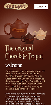 Chocpot Screenshot - Home Page - Mobile